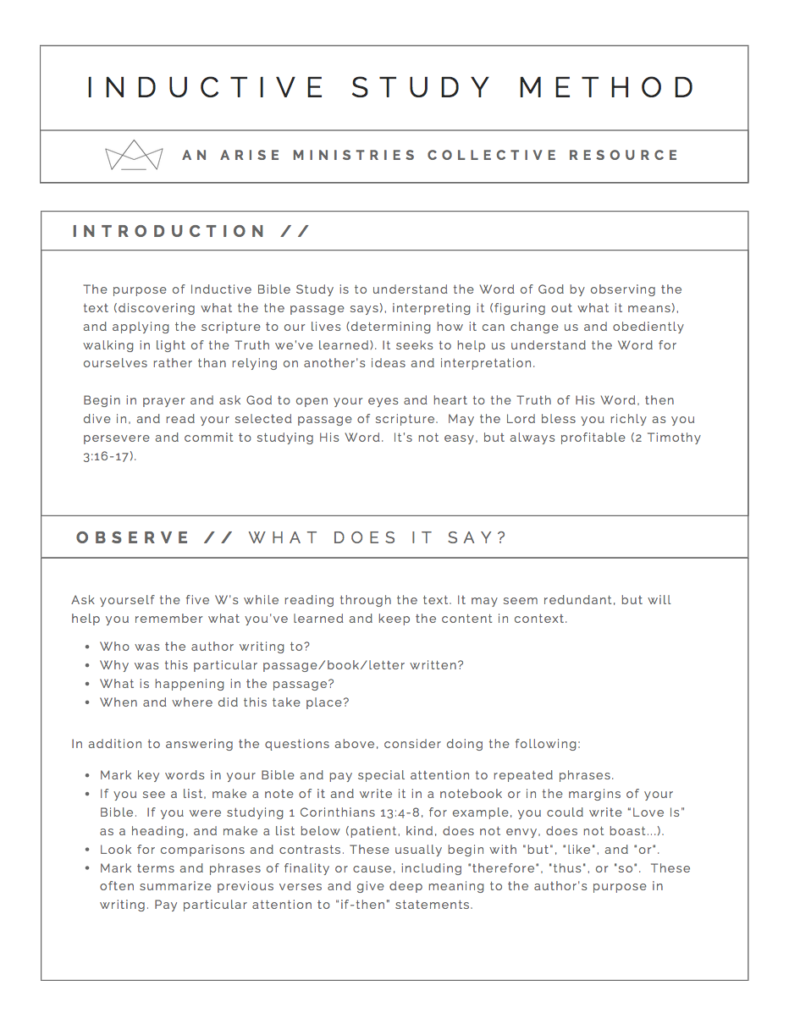 Worksheets Inductive Bible Study Worksheet inductive bible study method resources be sure to visit the blog post where lisa shares her experience in learning she introduced here