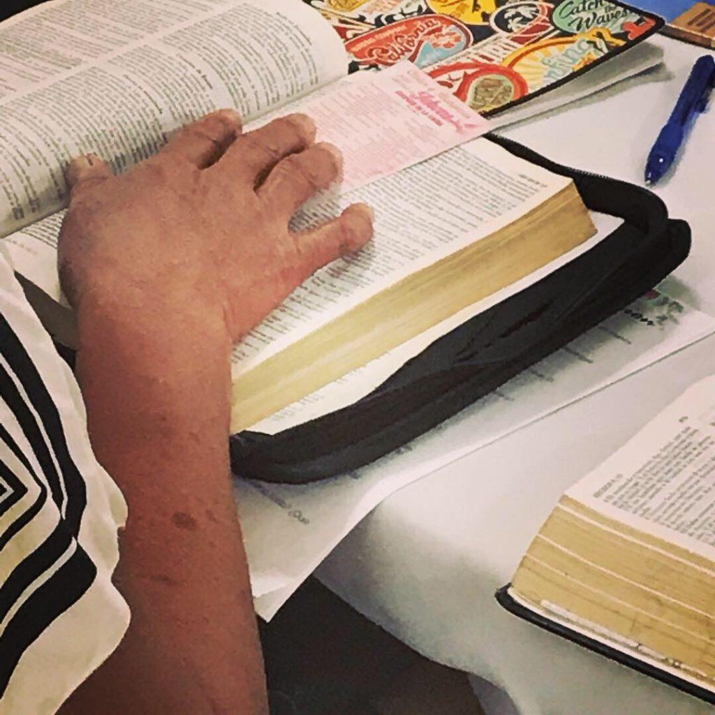 Nicaraguan woman studying her bible
